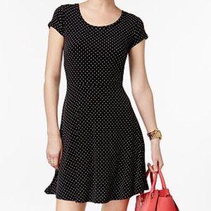 Michael Kors Navy Gold Dots Skater Dress